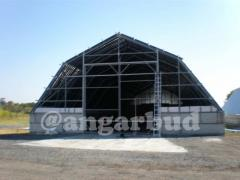 Construction of hangars, roofing work (available)